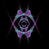 Abstract  symmetrical fractal background. Abstract  purple and blue symmetrical fractal background Stock Photos