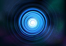 Abstract Symmetrical fractal tornado spiral galaxy blue royalty free illustration