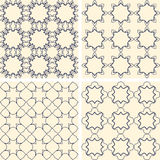 Abstract symmetrical geometric blue shapes. Fabric Royalty Free Stock Images