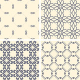 Abstract symmetrical geometric blue shapes. Fabric Royalty Free Stock Photo
