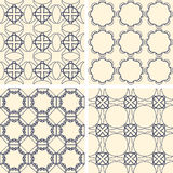 Abstract symmetrical geometric blue shapes. Fabric Royalty Free Stock Photos