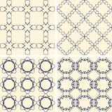 Abstract symmetrical geometric blue shapes. Fabric Stock Images