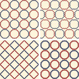 Abstract symmetrical geometric dark blue and red Royalty Free Stock Photo