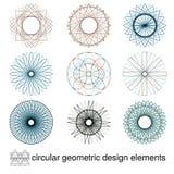Abstract symmetrical geometric elements stock photos