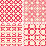 Abstract symmetrical geometric red shapes. Fabric Stock Image