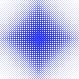 Abstract symmetrical halftone ellipse grid pattern background - vector graphic from ellipses in varying sizes Stock Photography