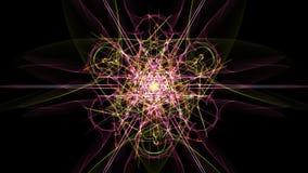 Abstract symmetrical light. Abstract digital light. Fantasy style. Silk symmetry series stock illustration