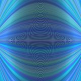 Abstract symmetrical motion background from thin curved lines in blue tones Royalty Free Stock Photo