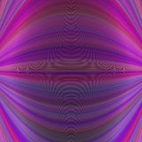 Abstract symmetrical motion background from thin curved lines in purple tones  Royalty Free Stock Photo
