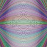 Abstract symmetrical motion background from thin curved lines Royalty Free Stock Images