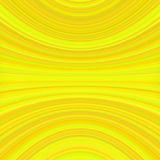 Abstract symmetrical motion background from thin yellow curved lines Royalty Free Stock Photos