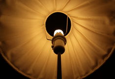 Abstract symmetrical shot of a lamp shade Stock Images