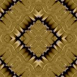 Abstract symmetrical wavy seamless pattern Stock Image