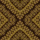 Abstract symmetrical wavy seamless pattern Stock Photo