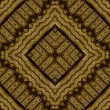 Abstract symmetrical wavy seamless pattern Stock Images
