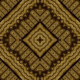 Abstract symmetrical wavy seamless pattern Stock Photos