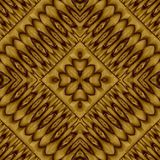 Abstract symmetrical wavy seamless pattern Stock Photography