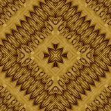 Abstract symmetrical wavy seamless pattern Royalty Free Stock Images
