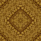 Abstract symmetrical wavy seamless pattern Royalty Free Stock Image