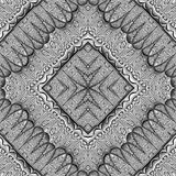 Abstract symmetrical wavy seamless pattern Royalty Free Stock Photography
