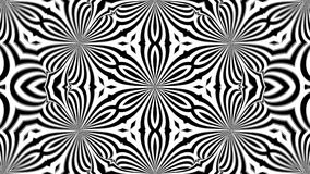 Abstract symmetry black and white kaleidoscope, 3d render backdrop, computer generating. Abstract symmetry black and white kaleidoscope, 3d rendering backdrop Stock Image