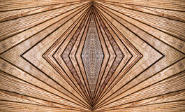 Abstract symmetry brown wooden pattern as background. Stock Photos