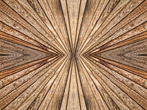 Abstract symmetry and perspective wooden texture pattern as back Royalty Free Stock Image
