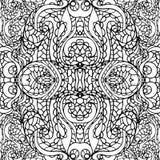 Abstract symmetry swirl ethnic seamless pattern Stock Image