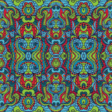 Abstract symmetry swirl seamless pattern.Colorful Royalty Free Stock Photography