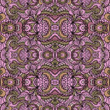 Abstract symmetry swirl seamless pattern. Colorful Stock Photos