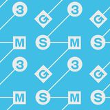 Abstract system typography coded seamless pattern Stock Photos