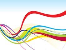 abstract tęczy kolorową kreskową fala Zdjęcia Stock