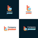 Abstract t letter company sign vector icon. T letter company sign vector icon Stock Image
