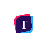 Abstract T letter logo company icon. Creative vector emblem bran Stock Photography