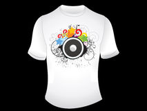 Abstract t-shirt design Royalty Free Stock Images