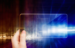 Abstract tablet in hand Royalty Free Stock Images