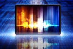 Abstract tablet PC Royalty Free Stock Photos
