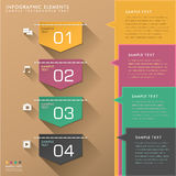 Abstract tag infographics Stock Photography