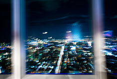 Abstract of taipei city at night Stock Image