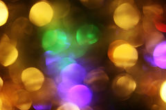 Abstract take of colorful Christmas lights, a background Royalty Free Stock Photos