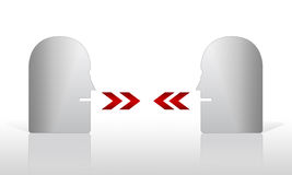 Abstract talking heads. Abstract heads having a discussion, conversation or talk Royalty Free Illustration