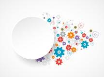 Abstract tandrad achtergrondtechnologiethema voor uw zaken stock illustratie