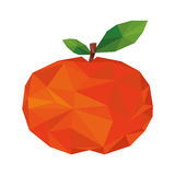 Abstract tangerine fruit icon Royalty Free Stock Photography