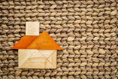 Abstract tangram house Stock Photo
