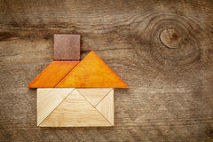 Abstract tangram house Stock Photos