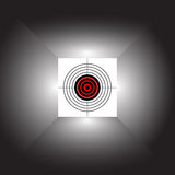 Abstract target. Target on an abstract background Stock Photography