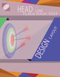 Abstract target with arrows for infographic, template for cycle diagram graph presentation. Digital vector image Stock Photography