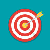 Abstract target flat design icon illustration. Illustration of a Stock Photo