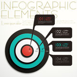 Abstract target infographics. Modern vector abstract target option infographic elements Royalty Free Stock Photos