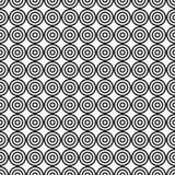 Abstract target seamless pattern. Modern stylish texture. Repeating circles. Simple minimalistic geometric vector background Stock Photo